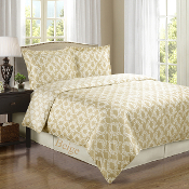 Sierra Beige/Ivory Silky Soft 100-Percent Egyptian Cotton