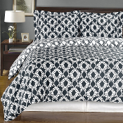 Sierra Navy/White Silky Soft 100-Percent Egyptian Cotton