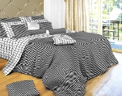 Black White Check Luxury 100% Cotton Duvet Cover Set