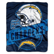 San Diego Chargers NFL Royal Plush Raschel Blanket