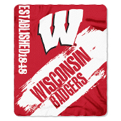 Wisconsin Badgers NCAA Light Weight Fleace Blanket