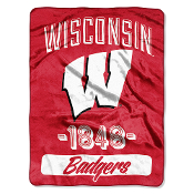 Wisconsin Badgers NCAA Micro Raschel Blanket