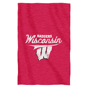 Wisconsin Badgers NCAA Sweatshirt Throw