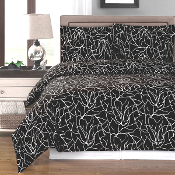 Black White Emma Duvet Cover Set