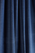 Blue Sky Velvet Drapes with Lining