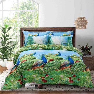 Peafowl Duvet Cover Set