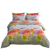 6 Piece Luxury Floral Duvet Cover Set