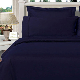 Navy Twin XL Solid 3 Piece with Alternative Comforter